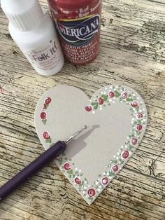 We love the way Lou has added a few of our designs to these chalkboards to create a perfect, unique gift. Heart Painting, Tole Painting, Fabric Painting, Painting On Wood, Gouache Painting, Painting Patterns, Painting Tips, Heart Crafts, Rock Crafts