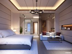 Unordinary Ceiling Design Ideas For Your Bedroom – Ceiling 2020 Luxury Bedroom Design, Hotel Room Design, Bedroom Bed Design, Luxury Decor, Bedroom Ceiling Designs, Interior Design, Wood Bedroom, Bedroom Furniture, Huge Bedrooms