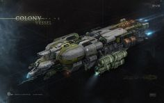 """Colony Ship for cinematic trailer """"EVE Universe: Origins"""", Georg Hilmarsson on ArtStation at https://www.artstation.com/artwork/colony-ship"""
