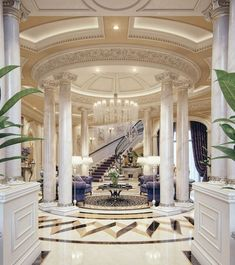 Luxury Mansion Interior Qatar Luxury House and Interiors Mansion Interior, Luxury Homes Interior, Luxury Home Decor, Interior And Exterior, Luxury Apartments, Room Interior, Interior Design Blogs, Interior Ideas, Plafond Design