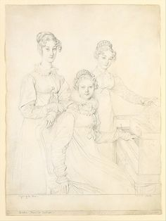 The Kaunitz Sisters (Leopoldine, Caroline, and Ferdinandine) by Jean Auguste Dominique Ingres (French, Montauban 1780–1867 Paris)