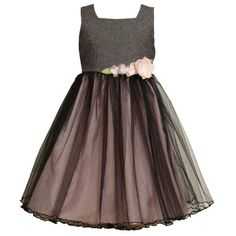 Size-5 BNJ-5368B GREY PINK TWEED and TULLE OVERLAY Special Occasion Wedding Flower Girl Party Dress B35368 Bonnie Jean LITTLE GIRLSFrom #Bonnie Jean List Price: $70.00Price: $49.00 Availability: Usually ships in 1-2 business daysShips From #and sold by iPovePou Boutique