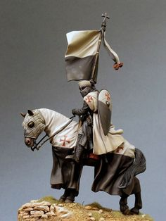 Knight on horseback. Toy soldier.