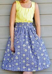Make a gathered dress when you're learning how to sew a dress. Simple dress patterns like this one are fun and rewarding; you'll end up with a wardrobe favorite!