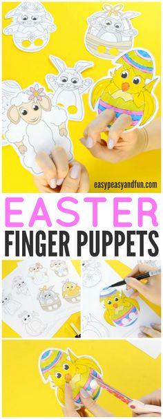 Adorable Easter Finger Puppets
