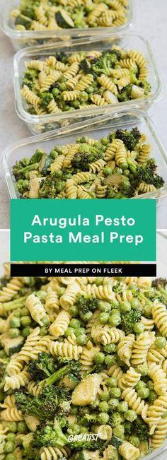 11 Vegetarian Meal-Prep Ideas That Go Beyond Tofu – – fitness meal prep Vegetarian Meal Prep, Healthy Meal Prep, Vegetarian Recipes, Healthy Eating, Healthy Recipes, Vegetarian Pesto, Healthy Pesto, Vegetarian Italian, Lentil Recipes