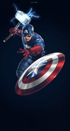 Hey guys, check out this awesome pic of Captain America…Enjoy…. Hey guys, check out this awesome pic of Captain America…Enjoy…. Marvel Avengers Comics, Marvel Avengers Assemble, The Avengers, Marvel Fan, Marvel Heroes, Funny Avengers, Marvel Captain America, Wallpaper Animé, Nebula Wallpaper