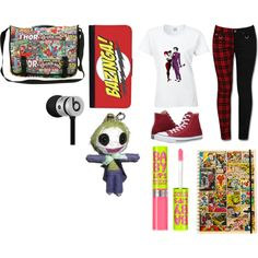 Unbenannt #10 by kirimaus on Polyvore featuring interior, interiors, interior design, Zuhause, home decor, interior decorating, Marvel Comics, Converse, CellPowerCases and Beats by Dr. Dre