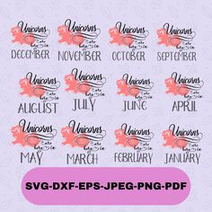 Unicorns are Born Bundle Svg Files For Cricut and Silhouette, Unicorn Bundle T-shirt Svg, Unicorn Silhouette, Instant Download Christmas Ornaments To Make, Christmas Angels, Unicorn Birthday, Girl Birthday, Angel Silhouette, Silhouette Designer Edition, Daughter Love, Svg Files For Cricut, Unicorns