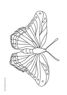 Free coloring pages with butterflies to color in beautiful colors. Insect Coloring Pages, Butterfly Coloring Page, Easy Coloring Pages, Printable Coloring Pages, Coloring Pages For Kids, Adult Coloring, Coloring Books, Easter Books, Simple Butterfly