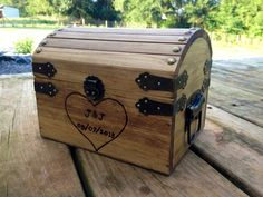 Shabby Chic and Rustic Wooden Card Box  Rustic by CountryBarnBabe, $35.00