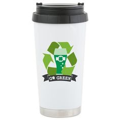 Go Green Travel Mug on CafePress.com