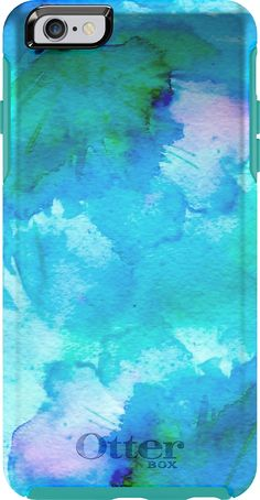 OtterBox iPhone 6 Plus Case - OtterBox Symmetry Series, Frustration-Free Packaging - FLORAL POND (WATERCOLOR BLUE FLORAL DESIGN)(5.5 inch)