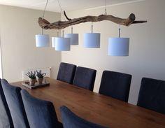 Plafondlamp met 6 lichten door GBHNatureArt. lengte 193 cm. Breng een bezoek aan onze webshop GBHNatureArt en ondek nog meer natuurlijke producten.