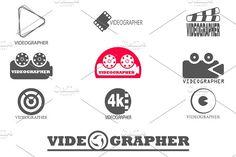 Set logos for videographer.[40%off] by pashigorov shop on @creativemarket