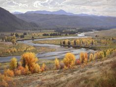 View Down Buffalo Valley 60″ x 80″ Oil on Canvas. By Jay Moore