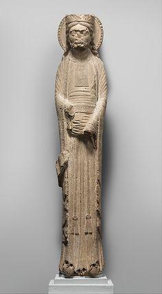 Column Statue of a King, Saint-Denis, France, c1150-60