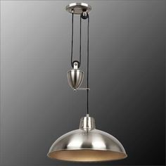 Endon Polka 1 Light Satin Nickel Rise And Fall Pendant POLKA-SN from KES Lighting, one of the UK's leading suppliers of online. Ceiling Pendant, Ceiling Lights, Pendant Light Fitting, Light Fittings, Diy Design, Lighting, Fall, Lounge, Satin