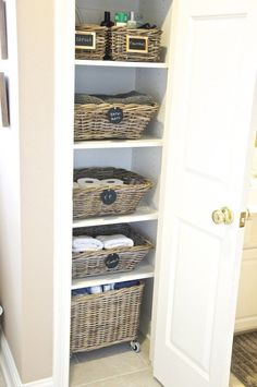 find this pin and more on organizationcleaning how to organize a bathroom closet - Bathroom Closet Organization Ideas