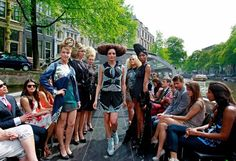 5.21.2012 - Yesterday was the Dutch Fashion Day, a celebration of Dutch fashion. Designers Sepehr Maghsoudi and the Otazu jewelery brand presented a unique catwalk show on the canals of Amsterdam. #amsterdamfashion
