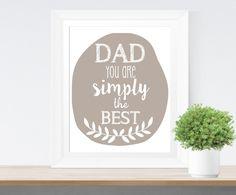 Affiche '#Dad you are simply the best' Cadeau #papa de Paperblooming sur DaWanda.com
