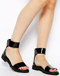 Image 4 of ASOS FIZA Flat Sandals