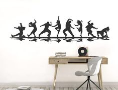 This motion packed street dance wall sticker is a must for any dance fans. Choose from numerous colour options and 2 sizes to best compliment any wall space Wall Stickers Dance, Wall Stickers Quotes, Childrens Wall Stickers, Wall Sticker Design, Dance World, Music Wall, Street Dance, Dance Art, Wall Spaces