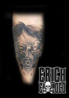 Tattoo Gasmaske Atompilz