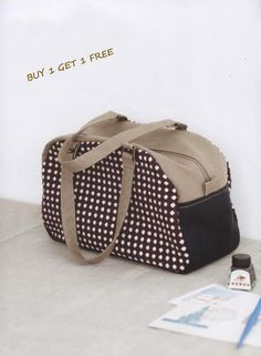 PDF Pattern of  Boston Duffle  Shoulder handbag  by Patternsinlove, $5.00