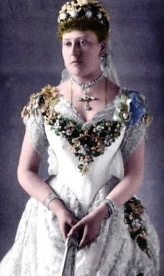 Colorized photo of Princess Beatrice, ninth child of Queen Victoria Albert