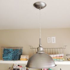 DIY - tutorial how to make pedant lamp - I'd use old shades, stainless steel bowl, half of the globe... or anything else  Ardent Hands Designs: Tutorials