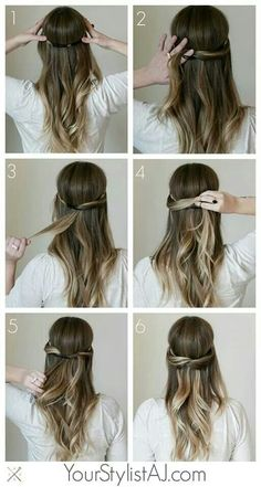 Half Up Headband Hair Tutorial hair beauty long hair updo braids bun how to diy hair hair tutorial hairstyles summer hair tutorials hair tutorials easy hairstyles Cute Everyday Hairstyles, Quick Hairstyles, Popular Hairstyles, Pretty Hairstyles, Teenage Hairstyles, Braid Hairstyles, Stylish Hairstyles, Hairstyles Haircuts, Wedding Hairstyles
