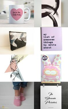 Graphic Pink  by Ilona on Etsy--Pinned+with+TreasuryPin.com