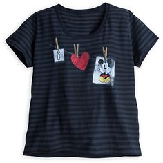 Mickey Mouse Striped Tee for Women