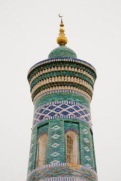 Minaret and Madrassah of Islam-Khodja, Itchan Kala (Ichon Qala), Khiva (Xiva, Хива, خیوه), Uzbekistan (O'zbekiston, Ўзбекистон)