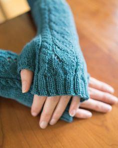 White Caps Fingerless Glove pattern at Knit Picks