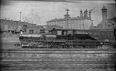 Lebanon, Pa. old photo of a train passing through.