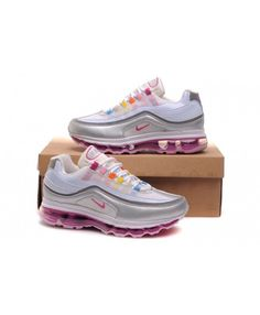 pretty nice b025a 3d0cd this Nike Air Max 97 Pink White Yellow Trainer is popular.