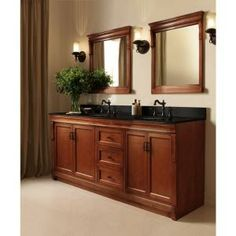 ef5a18ae034 Home Decorators Collection Naples 60 in. W Bath Vanity Cabinet Only in Warm  Cinnamon for Double Bowl
