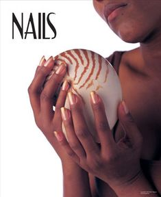 Give your walls a beachy ocean vibe with this sea shell and manicure NAILS salon poster. - $1