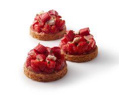 Sablé breton fraise maras des bois / rhubarbe <3