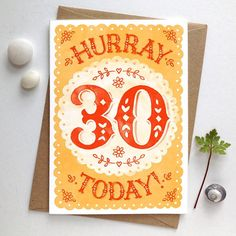 A sunny new 30th birthday card for someone's big day! ☀️🍾