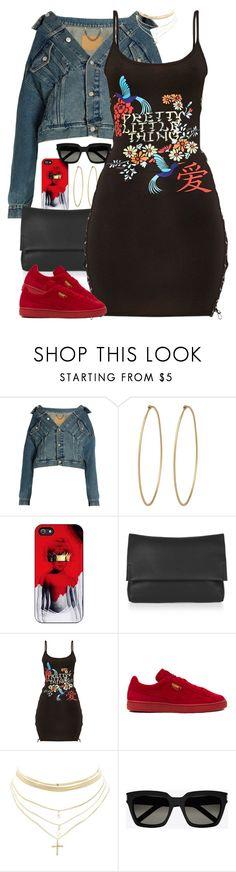 """Untitled #1628"" by power-beauty ❤ liked on Polyvore featuring Balenciaga, Social Anarchy, Topshop, Pretty Little Thing, Puma, Charlotte Russe and Yves Saint Laurent"