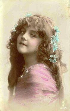 Pretty little Victorian girls Picture Postcards