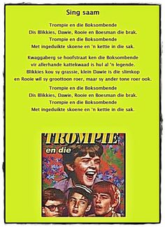 Trompie Afrikaans Language, Afrikaanse Quotes, Rhymes Songs, Kids Poems, Preschool Classroom, African History, Child Development, Book Lovers, Childhood Memories