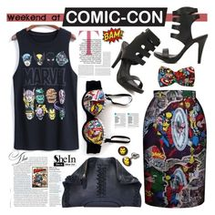 """Weekend at Comic-Con"" by katjuncica ❤ liked on Polyvore featuring Marvel Comics, Taschen, comiccon and comicconfashion"
