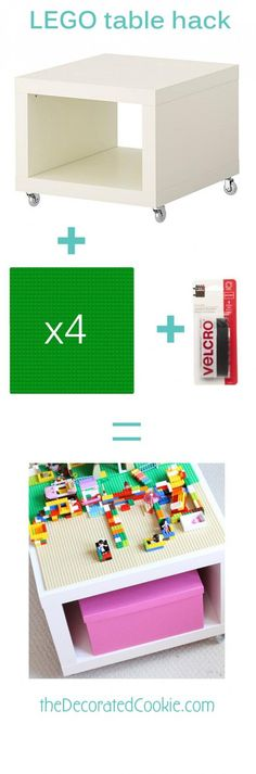 easy DIY LEGO table from IKEA hack: