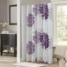 Comfort Spaces Enya Shower Curtain Purple Grey Flo