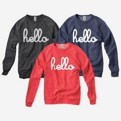 Hello (Adult) Champ Pullovers by Hello Apparel for sale on hellomerch.com