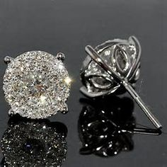 Image result for diamond earring studs with 1 peeiece back